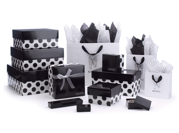 Premier Line Dots Apparel Boxes Packaging Specialties